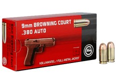 B - 50 CARTOUCHES 9COURT / 380AUTO FMJ 95GR